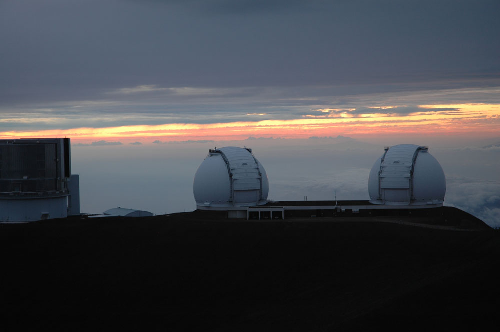 The observatories at Mauna Kea