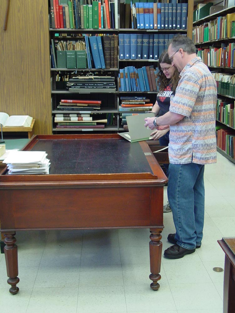 At Edward Drinker Cope's desk in the